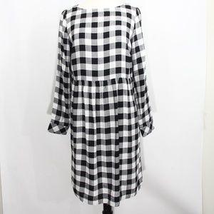 J. Jill Gingham plaid dress Small Long sleeves